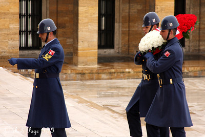 Laying a wreath at Ataturk's Mausoleum - Ankara, Turkey ... March 8, 2011 ... Photo by Rob Page III