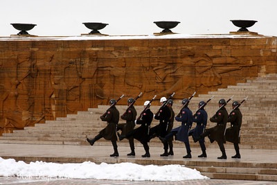 Guarding Ataturk's Mausoleum - Ankara, Turkey ... March 8, 2011 ... Photo by Rob Page III