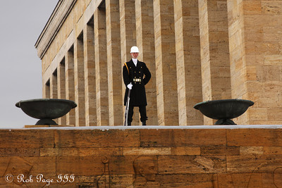 Standing guard at Ataturk's tomb - Ankara, Turkey ... March 7, 2011 ... Photo by Rob Page III