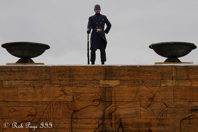 Looking out over the main square of Anitkabir - Ankara, Turkey ... March 7, 2011 ... Photo by Rob Page III