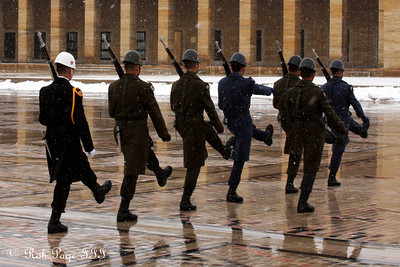 Military forces at the Anitkabir - Ankara, Turkey ... March 7, 2011 ... Photo by Rob Page III
