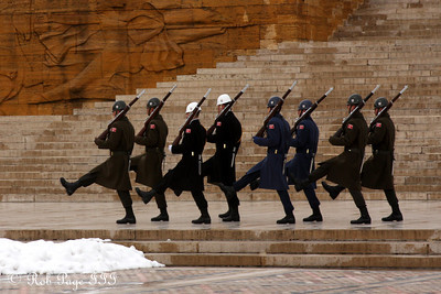 Soldiers at Ataturks Mausoleum - Ankara, Turkey ... March 8, 2011 ... Photo by Rob Page III