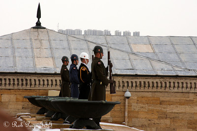 Standing guard at Ataturk's Mausoleum - Ankara, Turkey ... March 8, 2011 ... Photo by Rob Page III