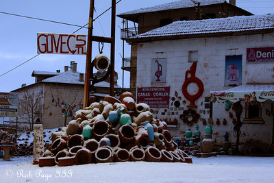 Pottery piled up - Cavusin, Turkey ... March 10, 2011 ... Photo by Rob Page III
