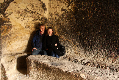 Ready for a homecooked meal in the carved out dining room - Goreme, Turkey ... March 11, 2011 ... Photo by Rob Page III