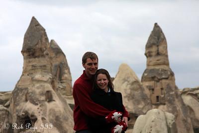 Enjoying a hike in Cappadochia - Goreme, Turkey ... March 11, 2011 ... Photo by Rob Page III