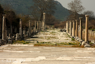 The main walkway that once ended at the ocean - Ephesus, Turkey ... March 5, 2011 ... Photo by Rob Page III