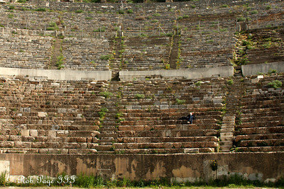 Emily enjoys the theater - Ephesus, Turkey ... March 5, 2011 ... Photo by Rob Page III