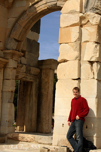 Rob in front of the Gate of Augustus - Ephesus, Turkey ... March 5, 2011 ... Photo by Emily Page