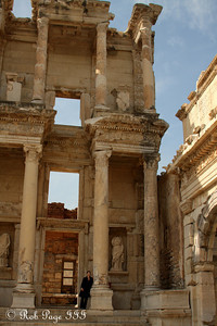 Emily at the Library of Celsus - Ephesus, Turkey ... March 5, 2011 ... Photo by Rob Page III