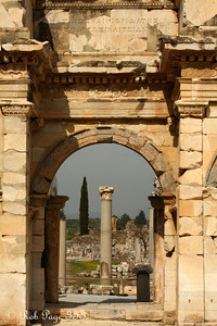 Looking through the Gate of Augustus - Ephesus, Turkey ... March 5, 2011 ... Photo by Rob Page III