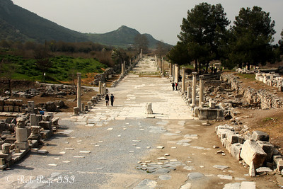 The walkway that once ended at the sea - Ephesus, Turkey ... March 5, 2011 ... Photo by Rob Page III