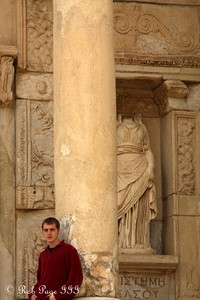 Rob at the Library of Celsus - Ephesus, Turkey ... March 5, 2011 ... Photo by Emily Page