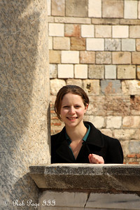 Emily with the Church of Mary - Ephesus, Turkey ... March 5, 2011 ... Photo by Rob Page III