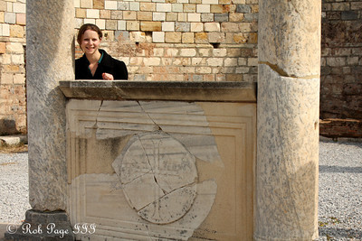 Emily at the Church of Mary - Ephesus, Turkey ... March 5, 2011 ... Photo by Rob Page III