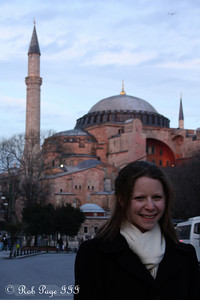 Emily in front of the Hagia Sophia - Istanbul, Turkey ... March 3, 2011 ... Photo by Rob Page III