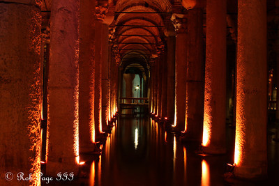Inside the Basilica Cistern - Istanbul, Turkey ... March 4, 2011 ... Photo by Rob Page III