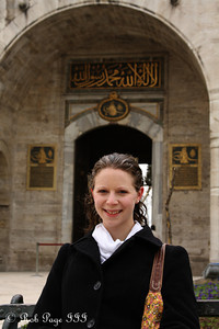 Emily in front of the Gate of Salutation at the Topkapi Palace - Istanbul, Turkey ... March 4, 2011 ... Photo by Rob Page III