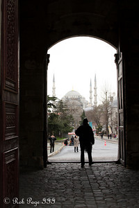 Looking through the Imperial Gate of the Topkapi Palace towards the Blue Mosque - Istanbul, Turkey ... March 4, 2011 ... Photo by Rob Page III