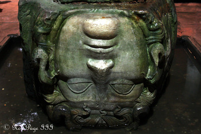 Medusa at the Basilica Cistern - Istanbul, Turkey ... March 4, 2011 ... Photo by Rob Page III