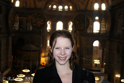 Emily in the Hagia Sophia - Istanbul, Turkey ... March 12, 2011 ... Photo by Rob Page III