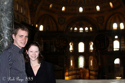 Rob and Emily at the Hagia Sophia - Istanbul, Turkey ... March 12, 2011