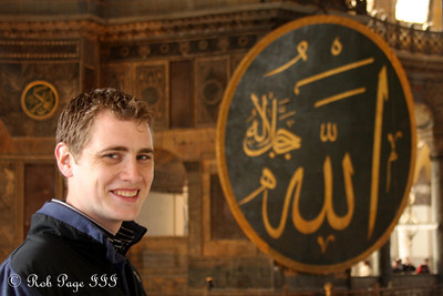 Rob in the Hagia Sophia - Istanbul, Turkey ... March 12, 2011 ... Photo by Emily Page