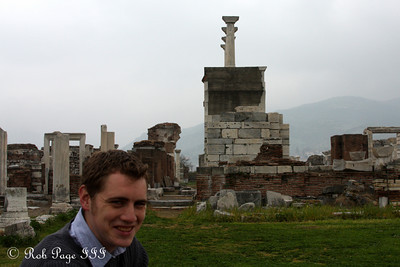 Rob at the Basilica of St. John - Selcuk, Turkey ... March 6, 2011 ... Photo by Emily Page