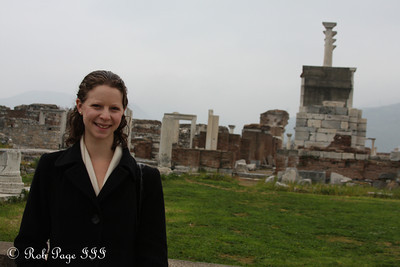 Emily at the Basilica of St. John - Selcuk, Turkey ... March 6, 2011 ... Photo by Rob Page III
