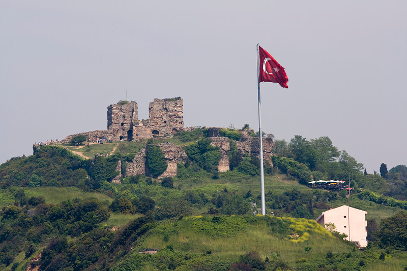 Yoros Castle at the Northern end of the Bosphorous overlooking the Black Sea.