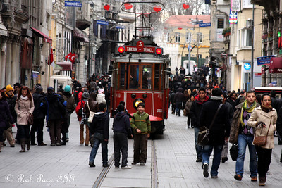 Walking down the Istiklal Avenue -  - Istanbul, Turkey ... March 4, 2011 ... Photo by Rob Page III