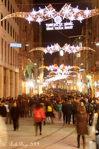 Walking down Istiklal Avenue - Istanbul, Turkey ... March 4, 2011 ... Photo by Rob Page III