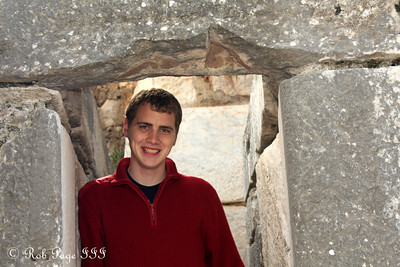 Rob at the Church of Mary - Ephesus, Turkey ... March 5, 2011 ... Photo by Emily Page