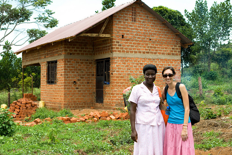 Margaret's land and the house/office we are helping to fund!