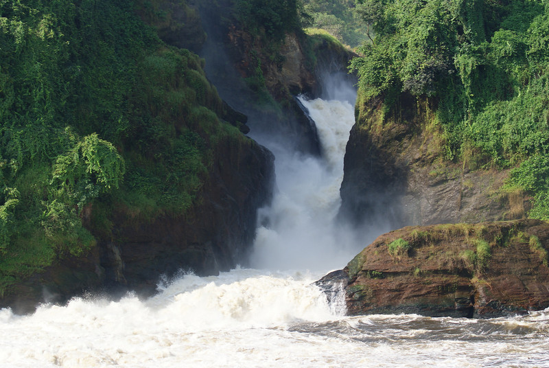 Murchison Falls, Uganda Game Reserve. This water fall is part of the Nile River. The land was once under the control of the LRA (Lord's Resistance Army), you might have heard of the LRA through the amazing charity called Invisible Children.
