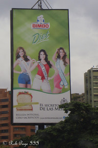 Would you shop at the Bimbo supermarket if there were three Miss Venezuelas to meet you? - Caracas, Venezuela ... August 12, 2013 ... Photo by Rob Page III