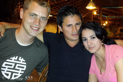 Out with Carlos for dinner - Portoviejo, Ecuador ... August 15, 2013
