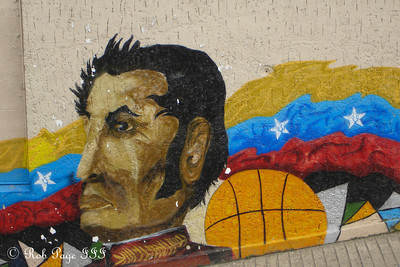 A painting of Simon Bolivar - Caracas, Venezuela ... August 9, 2013 ... Photo by Rob Page III
