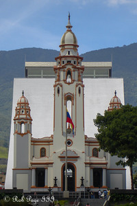 The National Pantheon of Venezuela with the new Simon Bolivar Mausoleum behind it - Caracas, Venezuela ... August 9, 2013 ... Photo by Rob Page III