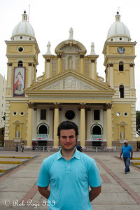 Pedro in front of the Basilica of Our Lady of Chiquinquirá - Maracaibo, Venezuela ... August 11, 2013 ... Photo by Rob Page III