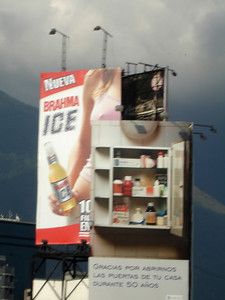 Do you want some ice or a Brahma Ice - Caracas, Venezuela ... October 2, 2005 ... Photo by Rob Page III