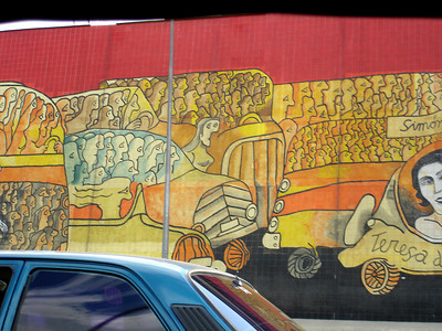 Some artwork along the autopista - Caracas, Venezuela ... October 2, 2005 ... Photo by Rob Page III
