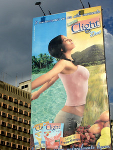 A Crystal Light advertisement - Caracas, Venezuela ... October 2, 2005 ... Photo by Rob Page III