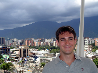 John with the view from the Tolon mall, a mall designed by Pedro's father - Caracas, Venezuela ... September 26, 2005 ... Photo by Rob Page III