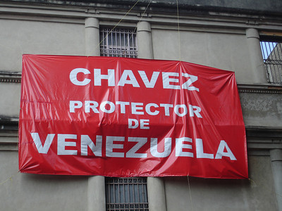 Chavez, the protector of Venezuela - Caracas, Venezuela ... October 3, 2005 ... Photo by Rob Page III
