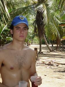 Pedro enjoying some drinks in the jungle - Choroni, Venezuela ... September 24, 2005 ... Photo by Rob Page III