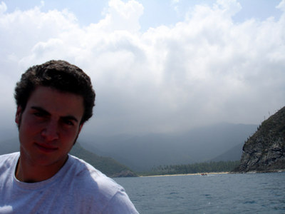 Pedro on the boat - Choroni, Venezuela ... September 24, 2005 ... Photo by Rob Page III