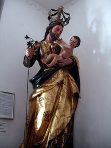 One of the statues in the church area of the Museo de Arte Colonial - Caracas, Venezuela ... September 23, 2005 ... Photo by Rob Page III