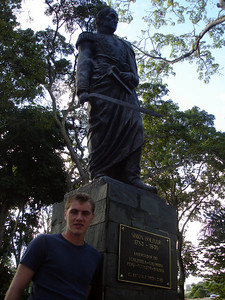 Rob and Simon Bolivar in El Hatillo - Caracas, Venezuela ... September 26, 2005 ... Photo by Rob Page III
