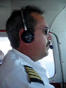 Jose, our pilot over Angel Falls - Canaima, Venezuela ... September 29, 2005 ... Photo by Rob Page III
